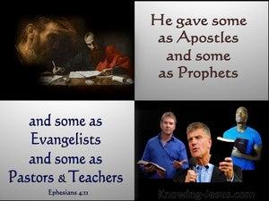 Ephesians 4:11 Apostles, Prophets, Evangelists, Pastors And Teachers (silver)