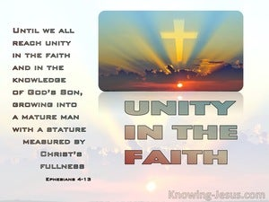 Ephesians 4:13 Until We All Reach Unity In The Faith (orange)