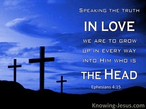 Ephesians 4:15 Speaking The Truth In Love : Grow Into Him (windows)12:14