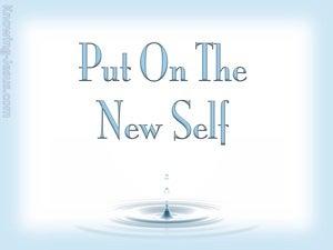 Ephesians 4:24 Put On The New Self (blue)