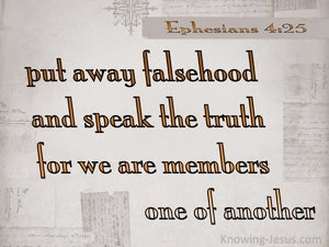 Ephesians 4:25 We Are Members One Of Another (beige)