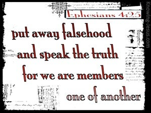 Ephesians 4:25 We Are Members One Of Another (white)