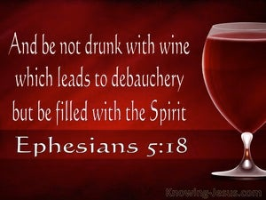 Ephesians 5:18 Be Filled With The Spirit (red)