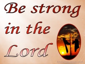 Ephesians 6:10 Be Strong In The Lord (pink)