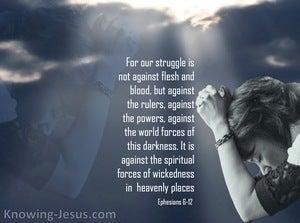 Ephesians 6:12 We Wrestle Not Against Flesh And Blood (gray)