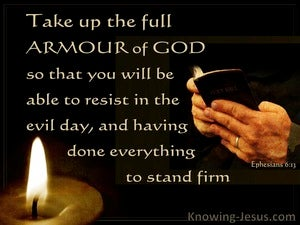 Ephesians 6:13 Put On The Full Armour Of God (black)