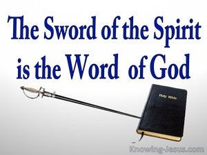 Ephesians 6:17 The Sword Of The Spirit Is The Word Of God (blue)