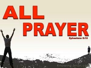All Prayer (devotional) (red) - Ephesians 6:18