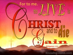 Philippians 1:21 For Me To Live Is Christ pink