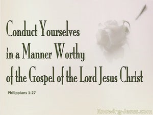 Philippians 1:27  Conduct Yourselves In A Worthy Manner pink