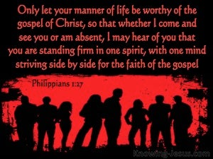 Philippians 1:27 Let  Your Life Be Worthy Of The Gospel Of Christ red