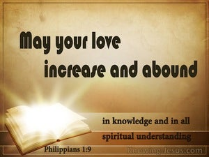 Philippians 1:9 May Your Love Increase And Abound beige