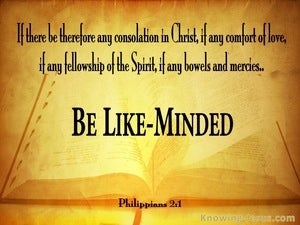 Philippians 2:1 Be Likeminded yellow