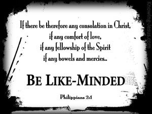 Philippians 2:1 Be Likeminded black