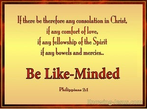 Philippians 2:1 Be Likeminded gold