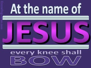 Philippians 2:10 The Name Of Jesus (purple)