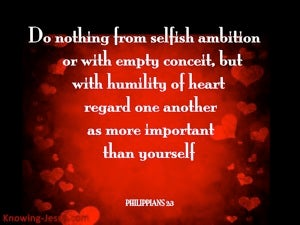 Philippians 2:3 Do Nothing From Selfish Ambition red