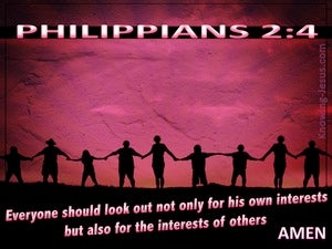 Philippians 2:4 Look Out For The Interests Of Others pink