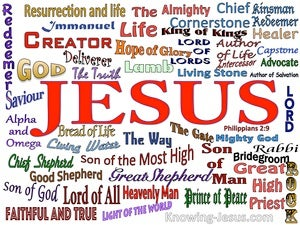 Philippians 2:9 The Name That Is Above All Names white