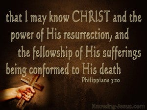Philippians 3:10 That I May Know Christ gold