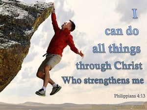 Philippians 4:13 All Things Through Christ blue