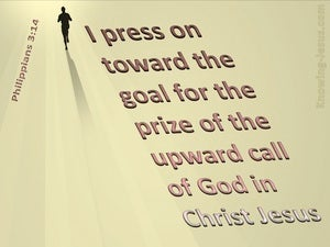 Philippians 3:14 I Press Towards The Goal pink