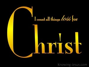 Philippians 3:8 All Things Loss For Christ black