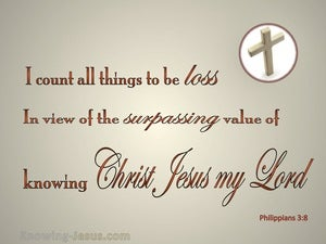 Philippians 3:8 I Count All Things Loss beige
