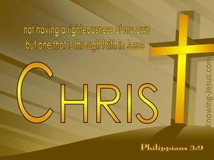 Philippians 3:9 Righteousness Of Christ yellow