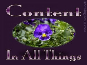 Philippians 4:11 Content In All Things purple