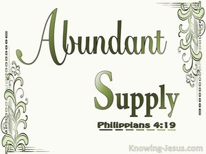 Philippians 4:19 God Will Supply All Our Needs Abundantly sage