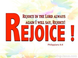 Philippians 4:4 Rejoice In The Lord Always red