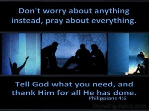 Philippians 4:6 Do Not Worry About Anything (blue)