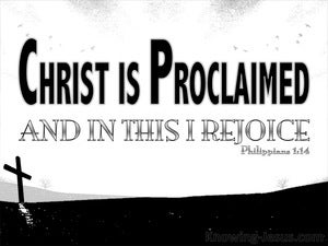 Philippians 1:18 Christ Is Proclaimed (black)