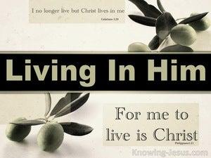 Galatians 2:20 Living in Him (devotional)07-26 (sage)