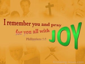 Philippians 1:3 Remember And Pray With Joy (orange)