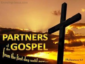 Philippians 1:5 Partners In TheGospel (yellow)