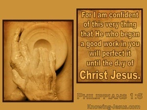 Philippians 1:6 God Began A Good Work (beige)