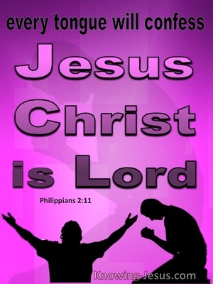 Philippians 2:11 Every Tongue WIll Confess Jesus Christ Is Lord (pink)
