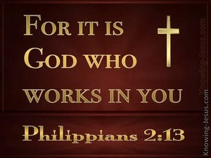 Philippians 2:13 It Is God Who Works In You (gold)