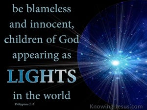 Philippians 2:15 Shine As Lights In The World (aqua)