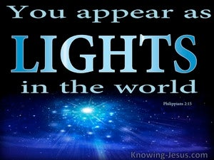 Philippians 2:15 Shine As Lights In The World (black)