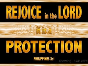 Philippians 3:1 Rejoice In The Lord (yellow)