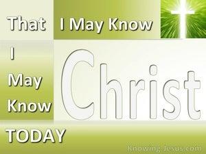Today (devotional) (green) - Philippians 3:10