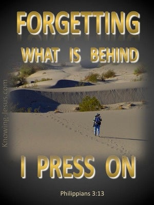 Philippians 3:13 Forgetting What Is Behind (gold)
