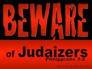 Philippians 3:2 Beware Of Dogs, Evil Workers and  False Circumcism (black)
