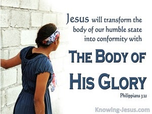 Philippians 3:21 The Body Of His Glory (blue)