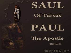 Philippians 3:5 Saul Of Tarsus Paul The Apostle (brown)