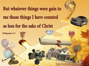 Philippians 3:7 Gain Is Counted as Loss (yellow)