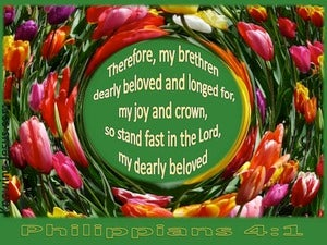 Philippians 4:1 Stand Fast In The Lord (green)